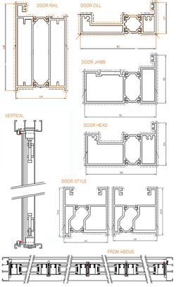 Aluminium Bifold Technical Drawings