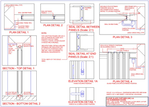 Frameless Door Technical Drawings