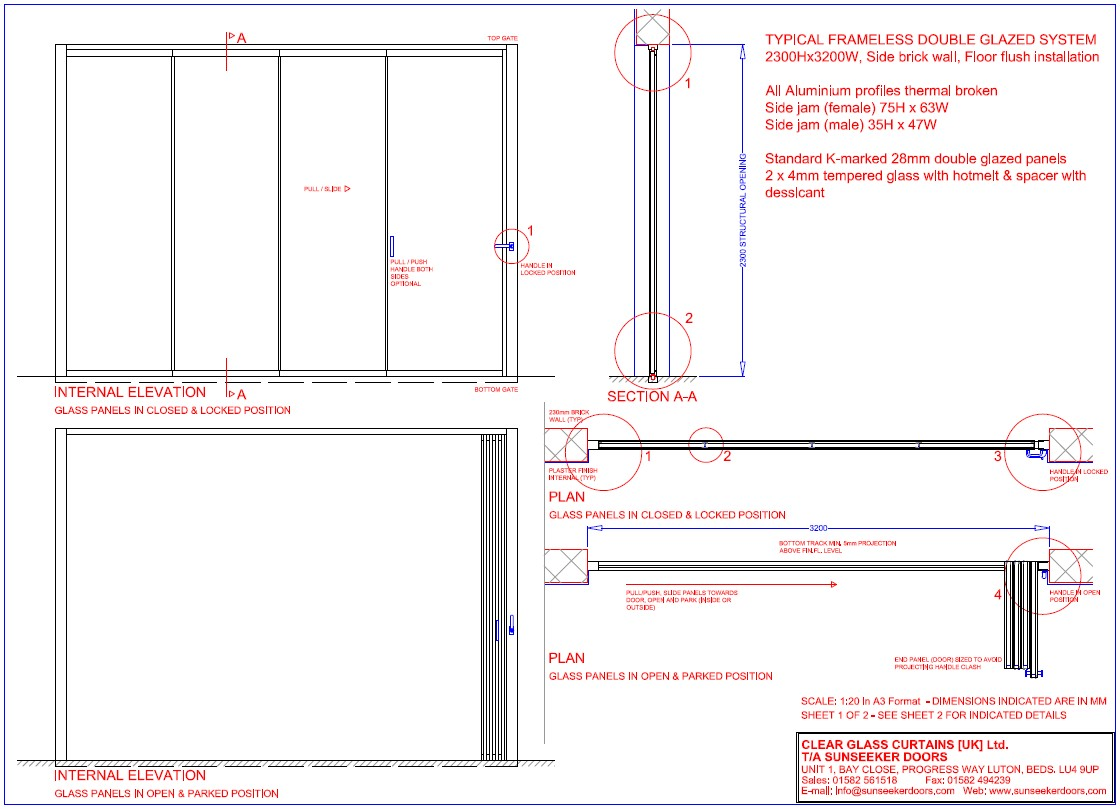 Frameless Glass Door Technical Specification