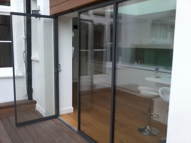 Frameless Glass Doors Glass Curtains Folding Sliding
